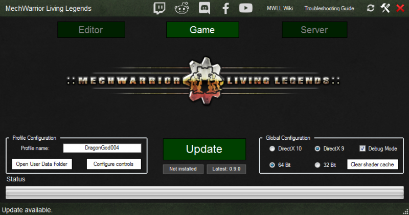 MWLL Launcher - MechWarrior: Living Legends Wiki